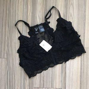 NWT Windsor black lace bralette